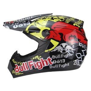 Image 2 - 高品質オートバイヘルメット保護 capacete オートバイ女性 & 男性オフロードモトクロスヘルメット承認