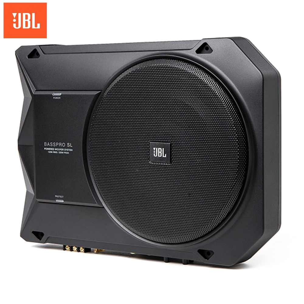 Jbl Bass Jbl Basspro Sl 8 Inch 125w Car Active Speaker Auto Audio Ultra Thin Subwoofer Universal Vehicle Bass Subwoofers Bright Sound