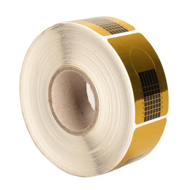500 шт., золотые наклейки для ногтей