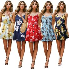 Luosha Women 2019 Summer Embroidery Flower Adjustable Girdle Wide Leg Playsuit Sexy Costumes Backless Beach Romper For Women Women's Clothing