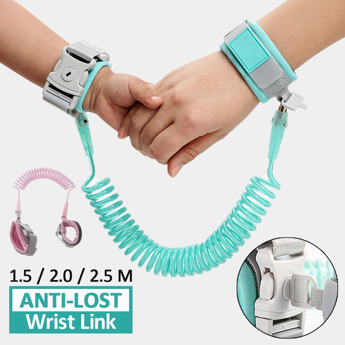 Anti Lost Wrist Link Toddler Leash Safety Harness for Baby Strap Rope Outdoor Walking Hand Belt Band Anti-lost Wristband KidsAnti Lost Wrist Link Toddler Leash Safety Harness for Baby Strap Rope Outdoor Walking Hand Belt Band Anti-lost Wristband Kids