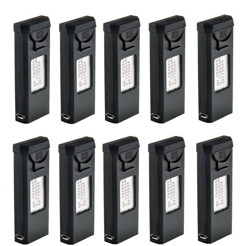 10Pcs Charger Set For VISUO XS809S XS809HW XS809W XS809 <font><b>3.7V</b></font> <font><b>900mAh</b></font> <font><b>Lipo</b></font> <font><b>Battery</b></font> RC Drones Quadcopter Spare Parts Accessories image