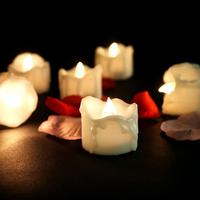 Adeeing 12pcs Warm White Flickering Flameless Led Lights Candles, Button Battery Operated Led Candle Electronic Candles