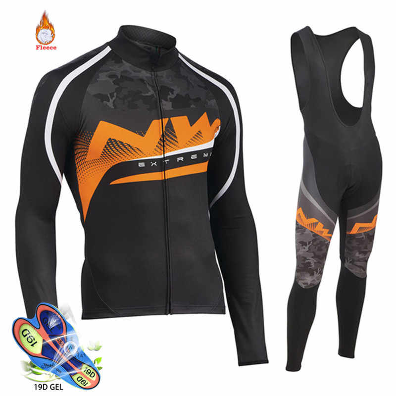 Pro Team Nw Northwave Winter Thermal Fleece Cycling Clothing Wear Bike MTB  Jerseys Cycling Sets 2019 1aa3ba355