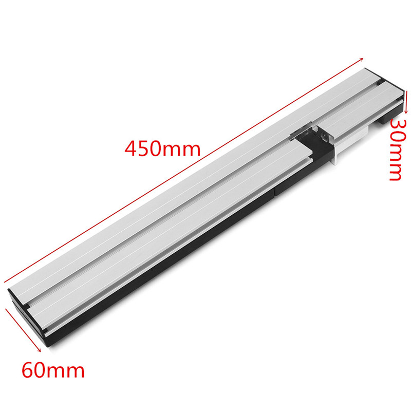 1pc 30x60x450mm Aluminum Box Joint Jig Kit For Miter Gauge Woodworking Tool New