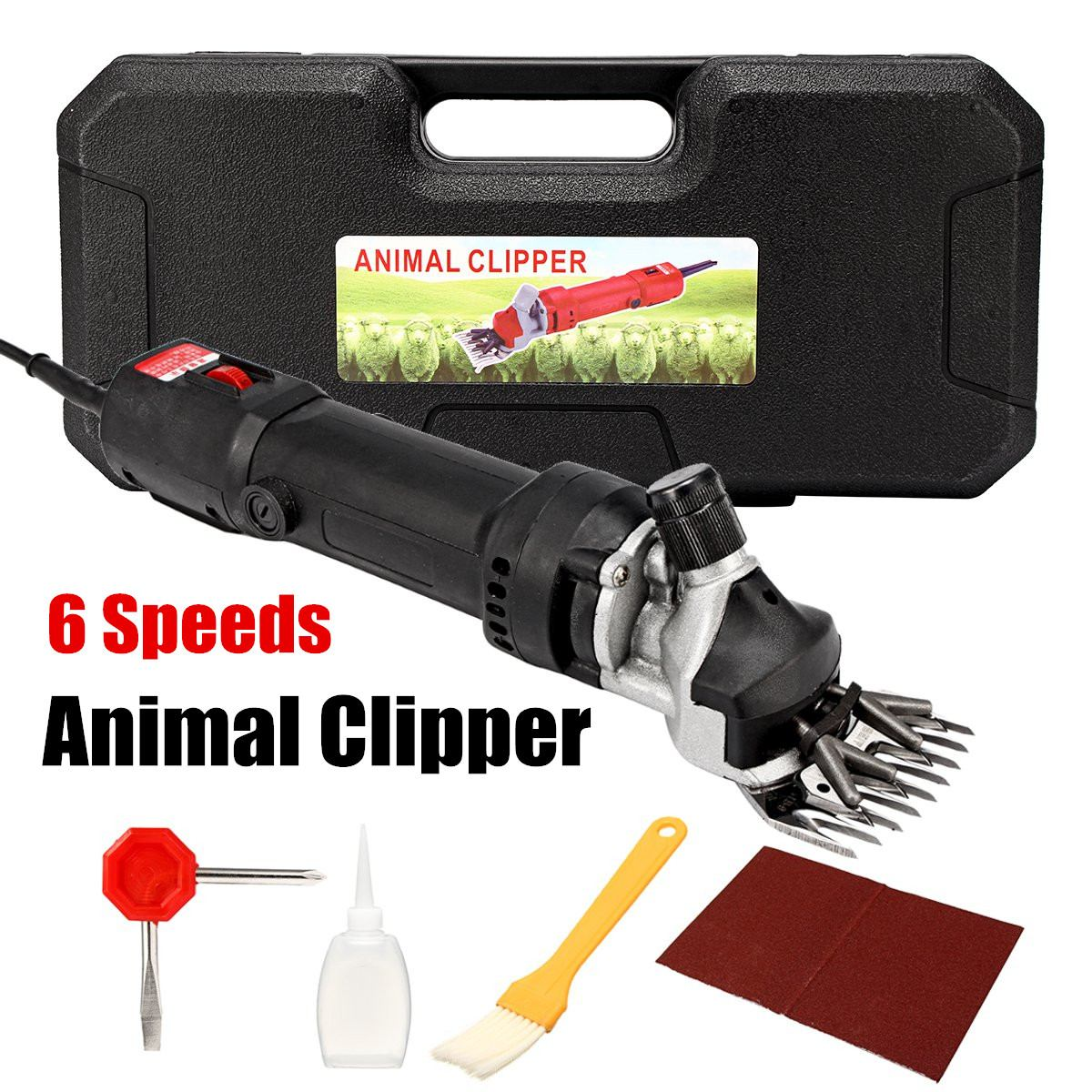 690W 6 Level Speed Electric Shears Shearing Hair Clipper Animal Sheep Goat Pet Farm Machine Scissor