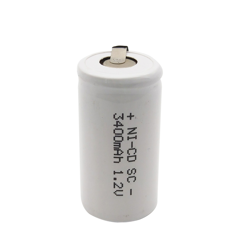 Free Shipping 12PCS SC NI-MH battery White  3400mAh rechargeable subc battery 1.2 v with tab for makita dewalt for bosch OOLAPR