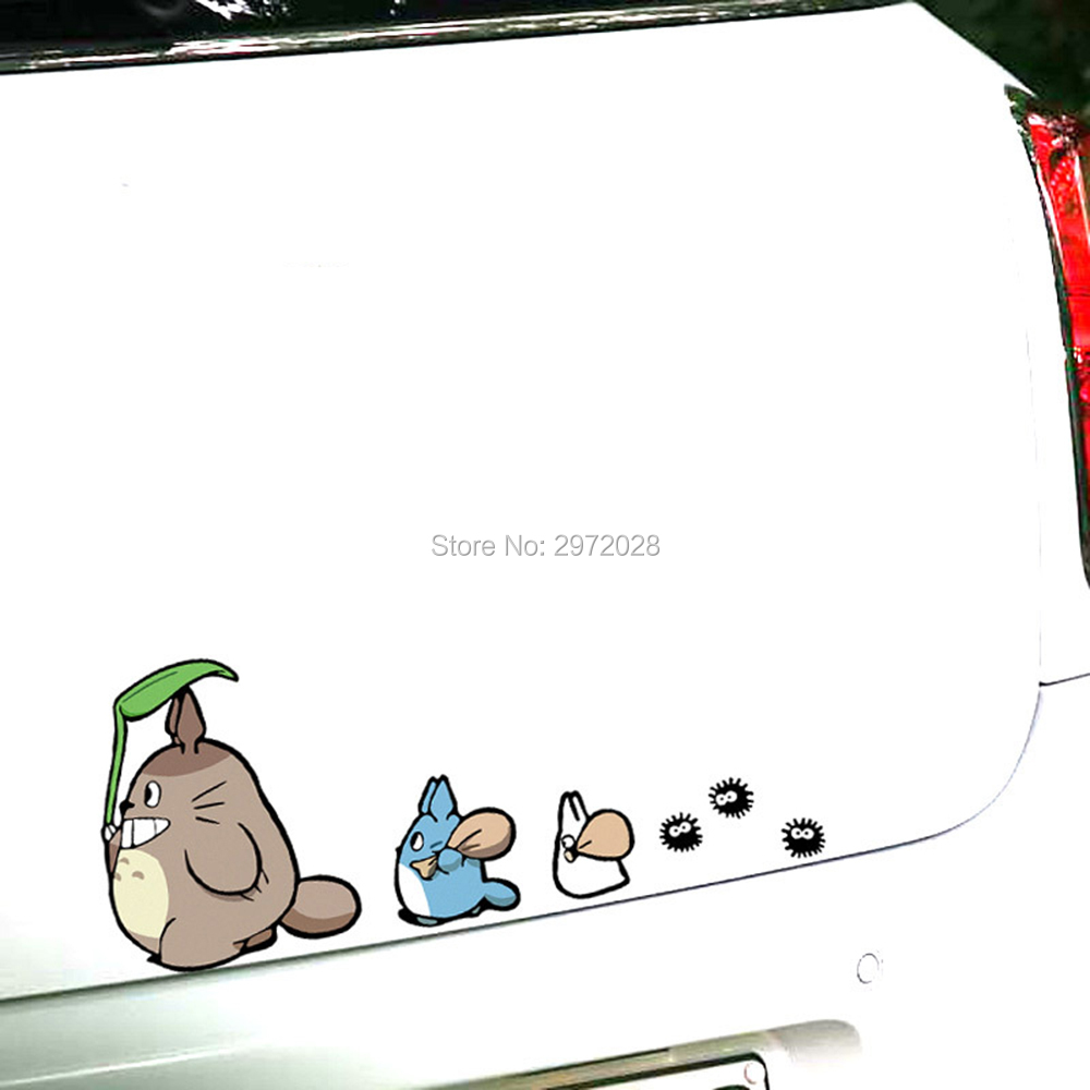 Funny Creative Cartoon Classical Film My Neighbor Totoro With Oak Seeds Car Styling Decorations Car Whole Body Stickers Decal