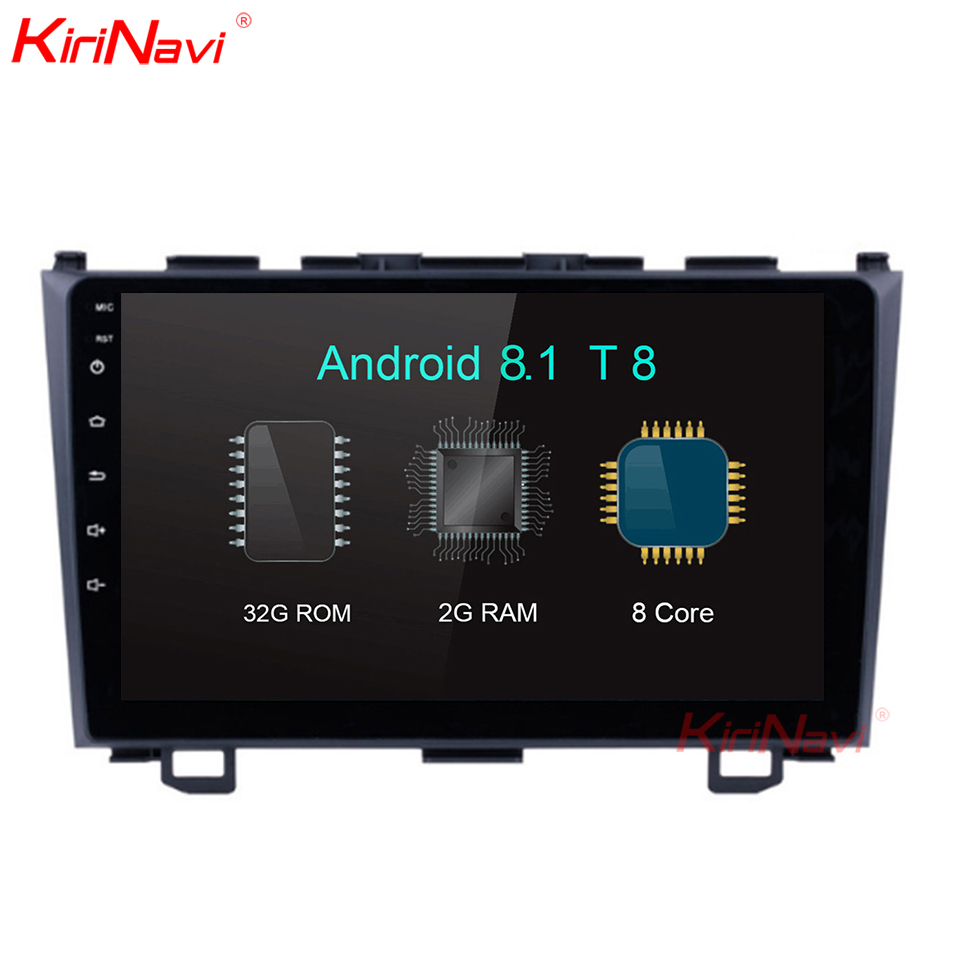 KiriNavi Grande Schermo Android 8.1 9 pollici Touch Screen Car Radio Per Honda Crv Android di Navigazione GPS Bluetooth WIFI 2006 -2011