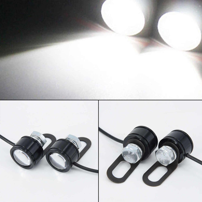 2Pcs Chip LED Motorcycle Fog Spotlight Driving Light Extra Lamp motorbike universal Spotlight car Accessories signal lamp