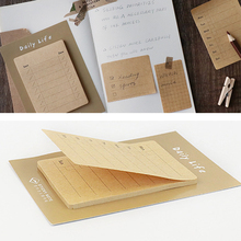 Life Planning Office Message Bookmark Daily Reminder Kraft Paper Home DIY Notebook Self-adhesive Memo Pad Index Stationery Label