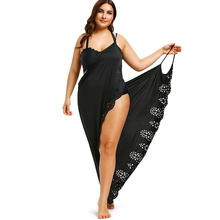 Plus Size Beach Dress Cover Up Laser Cut Wrap Dress Swimsuit Bathing Cover Ups Robe Femme Long Tunic Dress Swimwear Vestidos