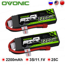 2 Packs OVONIC 2200 mAh 11.1 V Lipo 3 S Batterij 25C Max Burst 50C met Deans Plug T Connector voor RC Auto Drone Heli Boot Auto(China)