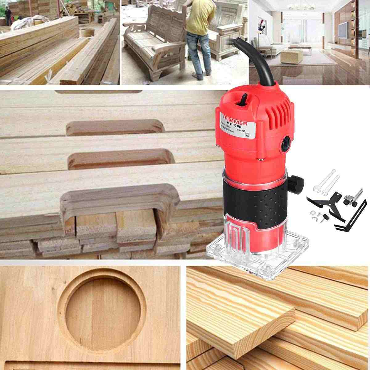 30000 RPM 220 V 110 V 1300 ワット 6.35 ミリメートル電動ハンドトリマー木材ラミネート手のひら木のルータ Joiners 手彫刻機木工ツール