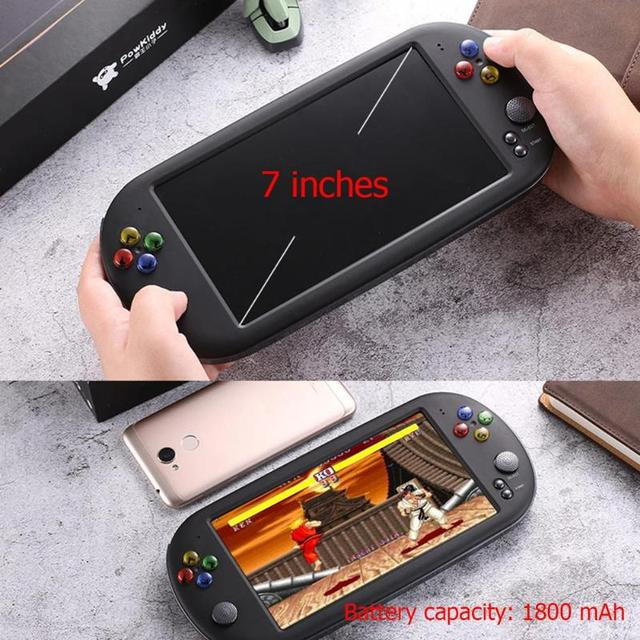 X16 7 Inch Game Console Handheld 200 Games Portable 8GB Retro Classic Video Game Player for Neogeo Arcade Handheld Game Players