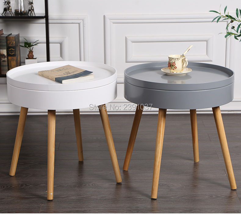 Nordic coffee table round Storage sofa table coffee round table, round furniture, for tatatami tea house coffee shop