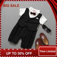 2016 romper kids suit Baby boy newborn clothing rompers baby clothes gentleman style