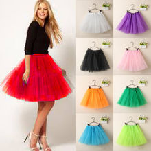 Vintage Tulle Skirt Short Tutu Mini Skirts Ballet Ball Gown