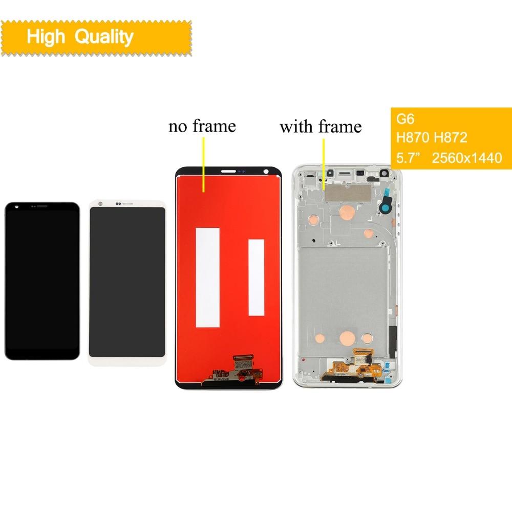 10 Pcs/lot affichage pour LG G6 LCD écran tactile avec cadre H870 H870DS H871 H872 LS993 VS998 US997 écran pour LG G6 écran LCD