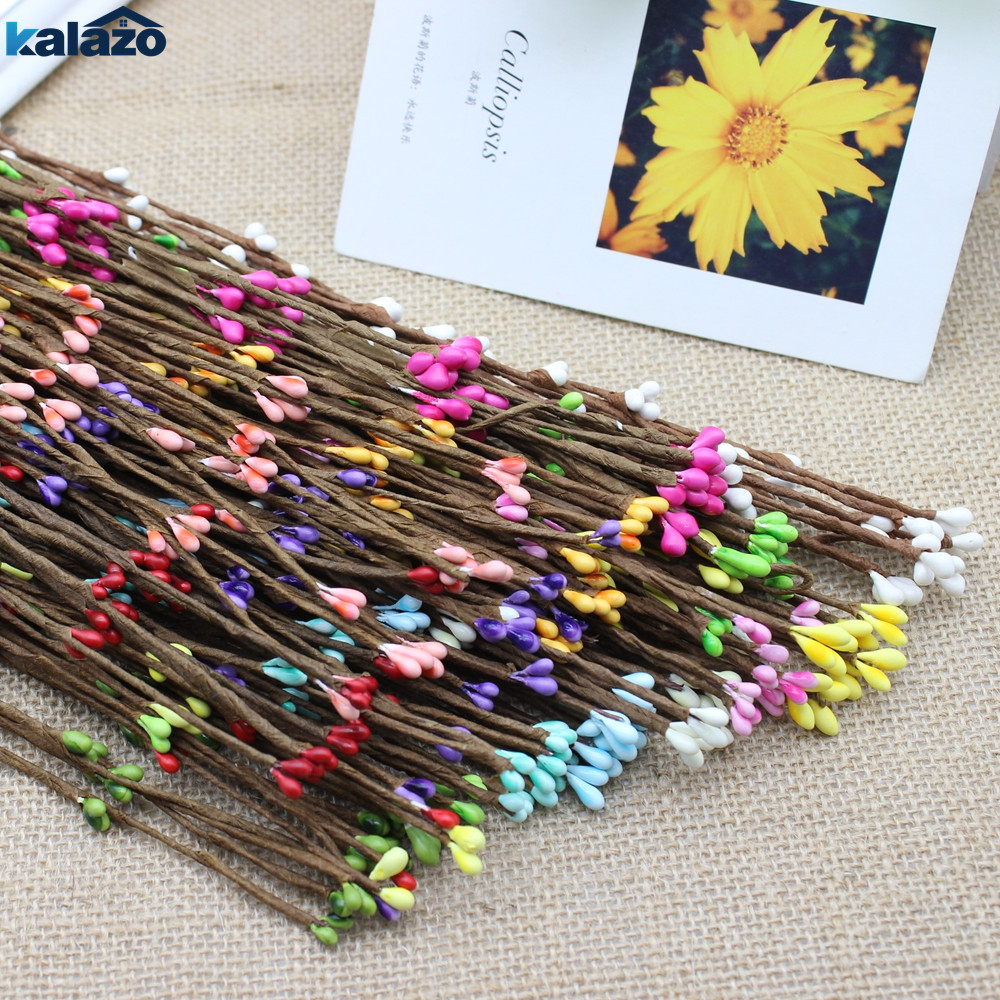 Wreath Flower-Branches Fake-Bud Christmas-Decoration Wedding-Party-Supplies Artificial title=