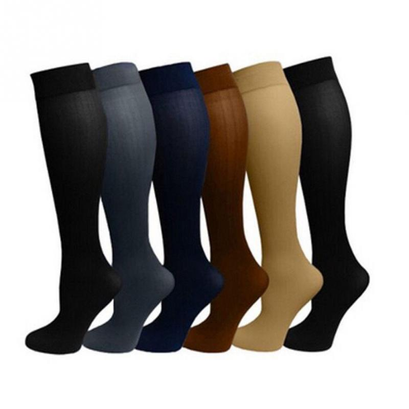 Capable Unisex Medical Compression Socks Women Men Pressure Varicose Veins Leg Relief Pain Knee High Stockings Socks Men 1pair New Hot Low Price Men's Socks