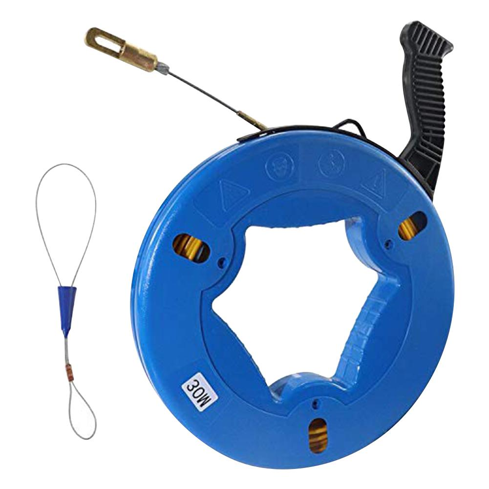 30M Durable Guide Device Fiberglass Electric Cable Push Pullers Duct Snake Rodder Fish Tape Wire Pulling Electricians Quality