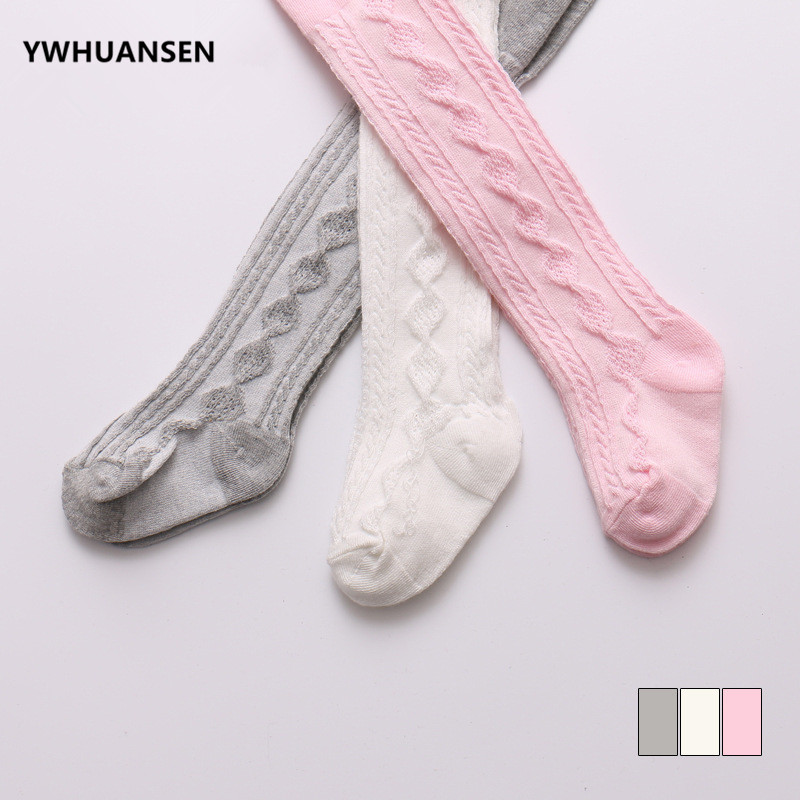 YWHUANSEN 0-6 Yrs Spring Summer Autumn Cute Baby Girls Mesh Cable Knit Tights Cotton Breathable Pantyhose For Toddler Girls Sale 1