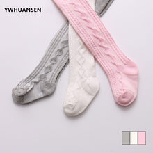 YWHUANSEN 0-6 Yrs Spring Summer Autumn Cute Baby Girls Mesh Cable Knit Tights Cotton Breathable Pantyhose For Toddler Girls Sale(China)