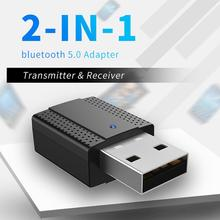 5.0 2 In1 USB Bluetooth 5.0 Transmitter Receiver USB AUX 3.5mm Stereo Muisc Aduio Bluetooth Wireless Adapter For TV Pc Heaphones цена