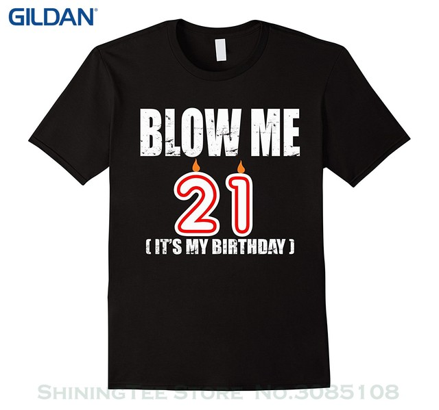 Men Casual Short Sleeve T Shirts Happy 21st Birthday Party Shirt 21 Years Old Gift