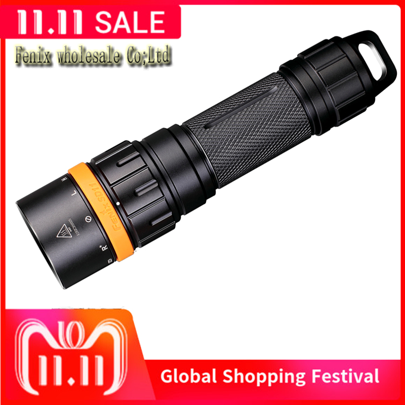 New Arrival Fenix SD11 100 meter Submersible Flashlight Diving Light with Rotating Magnetic Ring for One