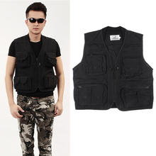 Men Mesh Vest Multi-pocket Fishing Photographer Outdoor Causal Jacket Accessories