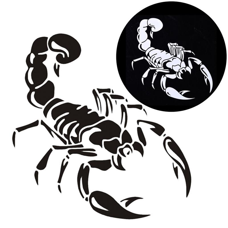 1PCS 30cm Cute 3D Scorpion Car Stickers Car Styling Vinyl Decal Sticker For Cars Acessories Decoration