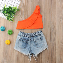 2pcs Toddler Kids Baby Girls Outfits Clothes Summer Orange S