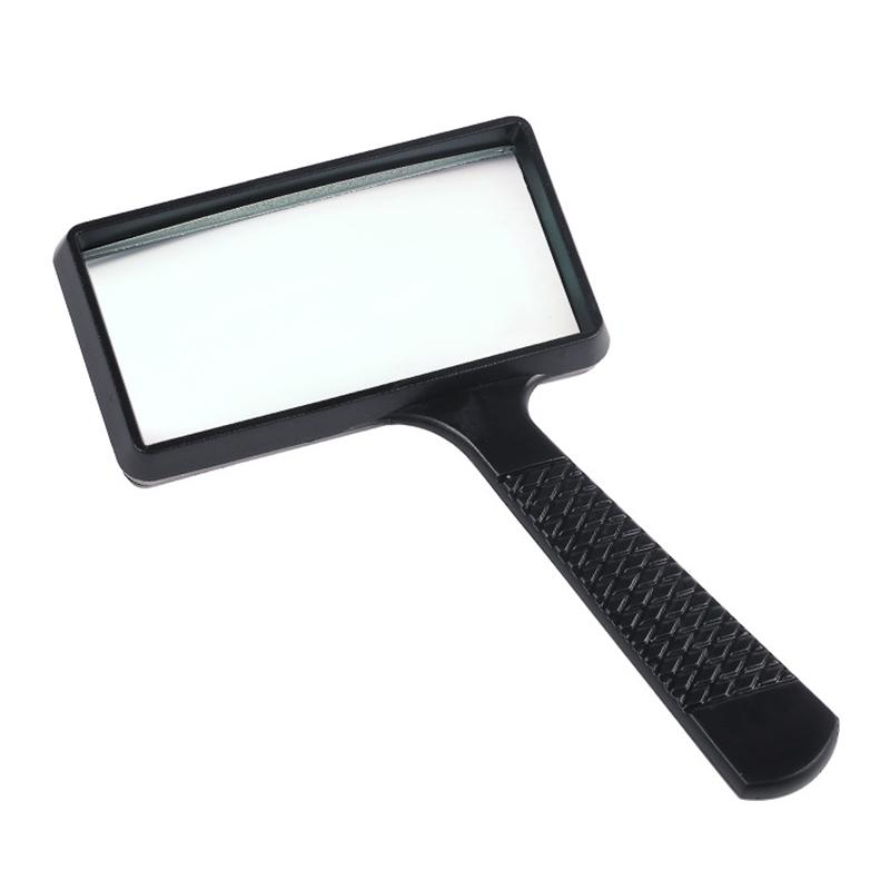 Portable Handheld 10X High Definition Rectangle Reading Magnifier Glass Lens Loupe For Old People Reading Magnifier