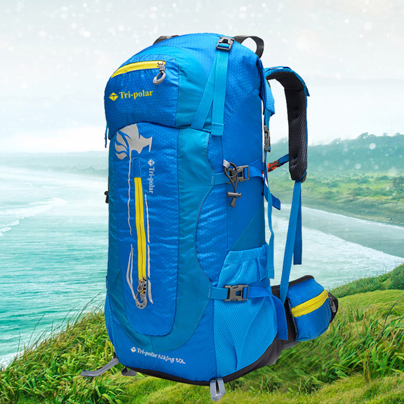 Tri-polar Backpack 50L Outdoor  Waterproof Travel Backpack Camping Hiking Climbing Bags TP1978