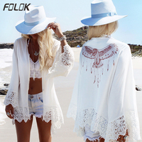 Bikini Cover Up Lace Hollow Crochet Swimsuit Beach Dress Women 2019 Summer Ladies Cover Ups Bathing Suit Beach Wear Tunic