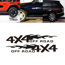 2pcs/lot 4x4 OFF ROAD Car Sticker 30x5.5cm Decor Car-styling Motorcycle Auto Decoration Stickers Accessory Universal