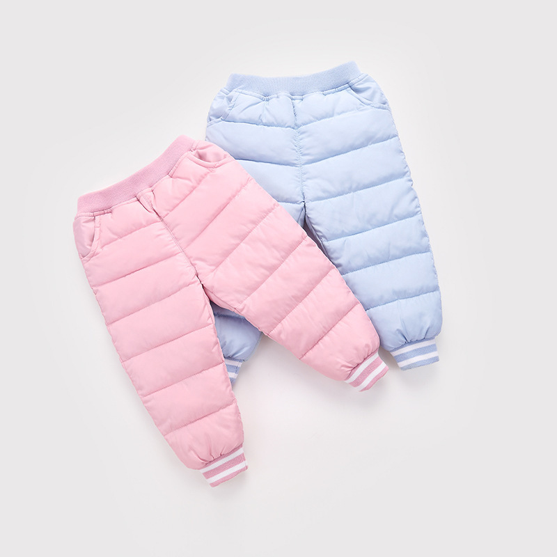 Rui Cheng New Pattern Children Down Cotton-padded Trousers In Candy Color Can Open Crotch Frivolous Down Cotton-padded Trousers