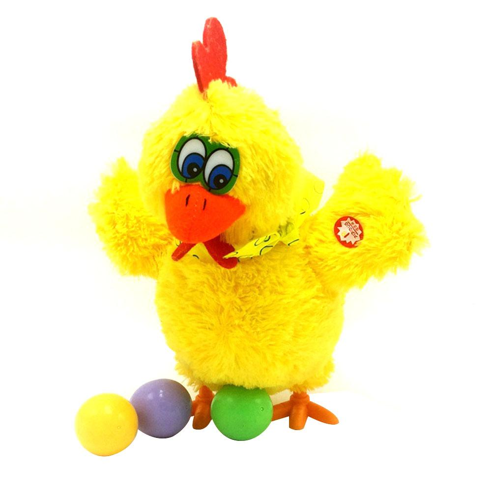 engracado que ovo de galinha galinha bonito brinquedo de pelucia eletrica danca cantando boneca de frango