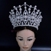 Pearl Pageant Crown 6 Inches Adjustable High Grade Tiara Australian crystal Hand Made accessories adjustable Hairwear Mo265