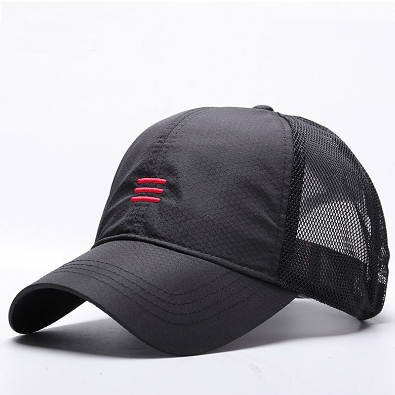 Big Head Man Plus Size Baseball Cap Men Summer Thin Fabric Mesh Sun Hat Male Snapback Hats M 55-59cm L 60-64cm(China)