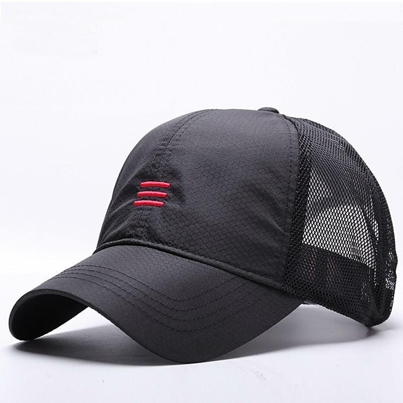 Big Head Man Plus Size Baseball Cap Men Summer Thin Fabric Mesh Sun Hat Male Snapback Hats M 55-59cm L 60-64cm