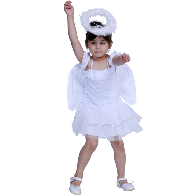Cute Angel Costume For Girl Toddler Halloween Kids Cosplay Dress