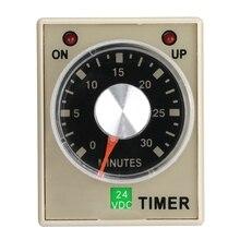 цена на 24VDC 6/10/30/60 Minutes Power On Delay Timer Time Relay AH3-3