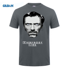 GILDAN Funky House M.D. T-Shirt Everybody Lies Tees Adult Round Neck Short Sleeve Simple Style Youth T Shirts for Men