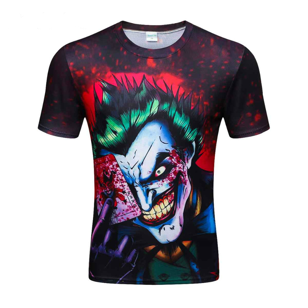 2019 new the Joker 3d   t     shirt   funny comics character joker with poker 3d   t  -  shirt   summer style outfit tees top full printing