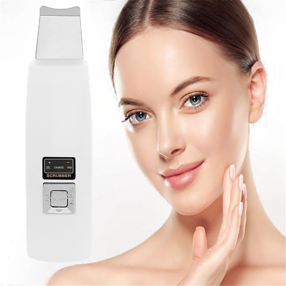 2019 New Ultrasonic Deep Face Cleaning Machine Remove Dirt Blackhead Reduce Wrinkles And Spots Facial Whitening Skin Scrubber