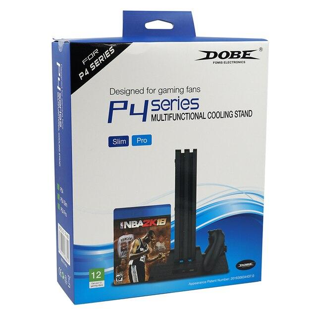 DOBE soporte multifunción de enfriamiento Vertical con doble cargador USB Dock para PS4 para PS4 Slim/PS4 Pro consola