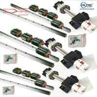 HGH20 Square Linear guide rail 6 set HGR20+ballscrew SFU1605 300/600/600+BK12 BF12+jaw Flexible Coupling Plum Coupler CNC parts